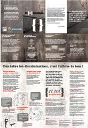 Affiche 'Combattre les discriminations, c'est l'affaire de tous !'