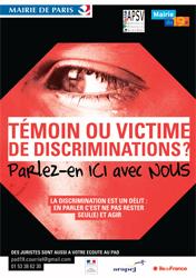 Affiche 'Témoin ou victime de discriminations ?'