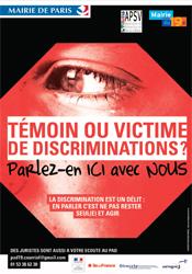 """Flyer """"Témoin ou victime de discriminations ?"""" - Page 1"""