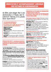 """Flyer """"Témoin ou victime de discriminations ?"""" - Page 2"""