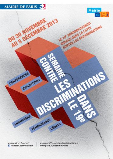 Semaine contre les discriminations dans le 19ème - 30 novembre au 5 décembre 2013